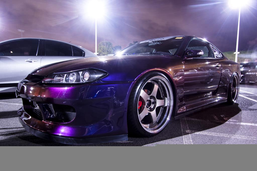 The Car Came With A Ever Por Vertex Ridge Widebody Kit An Crazy Midnight Purple Paintjob Is Running Set Of Ssr Professors Measuring